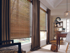 Parkland® Wood Blinds with Custom Draperies