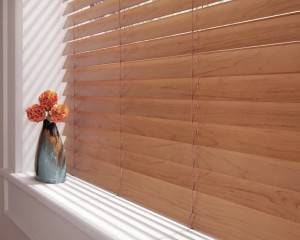 Everwood Faux Wood Blinds Closed