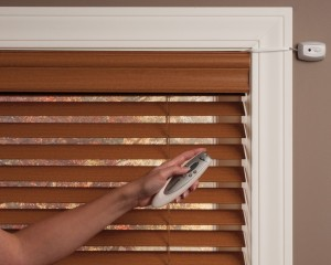 Everwood Faux Wood Blinds - Motorized