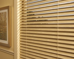 Everwood Faux Wood Blinds - Tilted Open