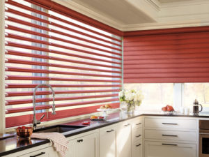 Pirouette® Window Shadings in the Kitchen